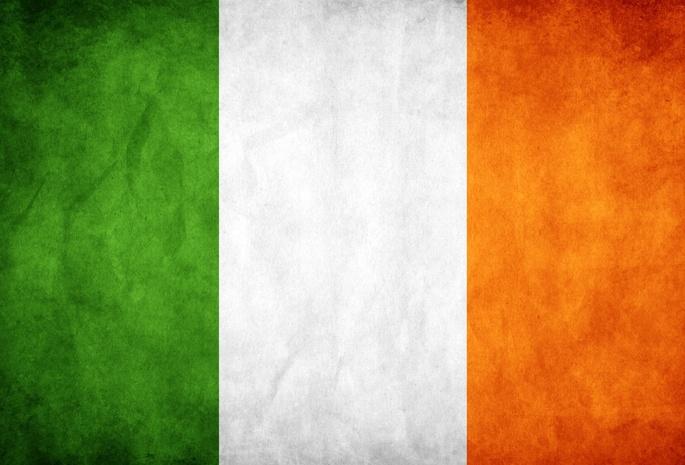 флаг оранжевый белый зеленый