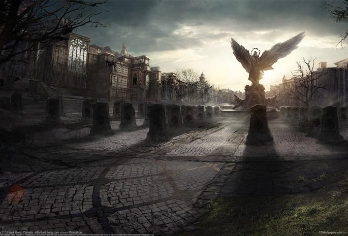 130 обои статуя 30 обои крылья 296 обои