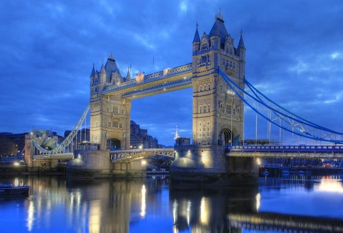 Англия темза лондон тауэрский мост
