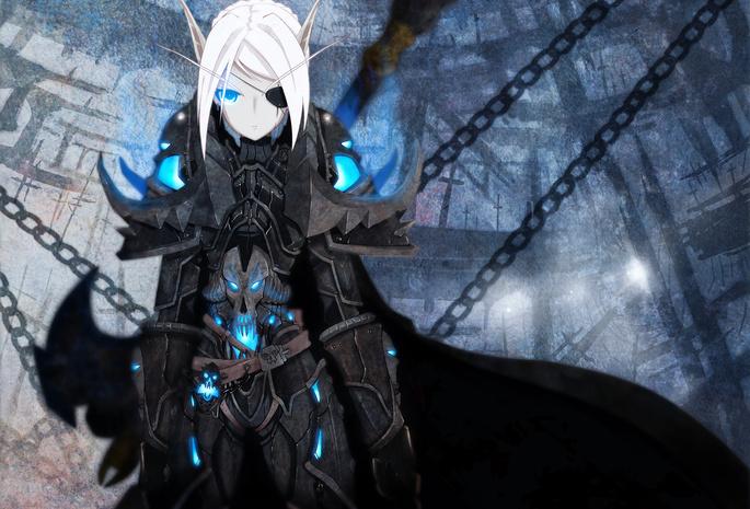 Warcraft обои голубые глаза 16 обои цепь