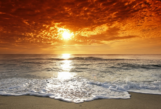 Картинки на рабочий стол sunset sea