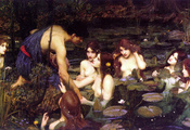 картина, John william waterhouse, произведение, hylas and the nymphs, 1896