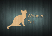 Cat, wood, wooden style, style, wooden cat