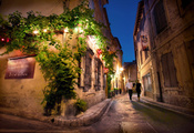 street, saint remy de provence, night, франция, France, ночь