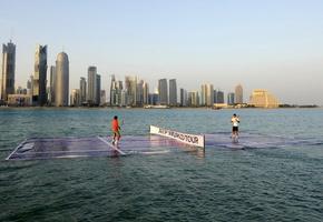 HD wallpaper Fonds d'écran, Federer, le tennis, l'eau, à Doha, Nadal ...