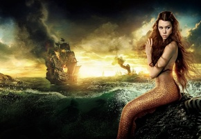 on stranger tides, disney, Pirates of the caribbean, the movie, astrid berg__s-frisbey, syrena
