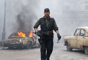 the expendables 2, chuck norris, чак норрис, мужик, booker, Неудержимые 2