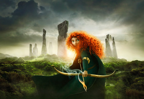 scotland, princess, film, disney, Brave, the movie, red hair, merida, pixar