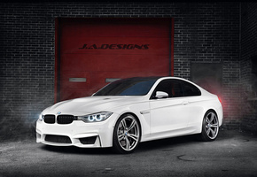 by j.a.designs, concept car, white, Bmw, m4, f82, 2015 coupe