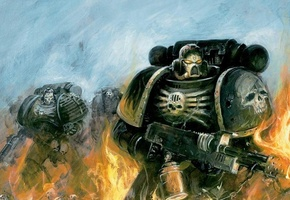 flame, space marines, космодесант, warhammer 40k, пламя, Warhammer