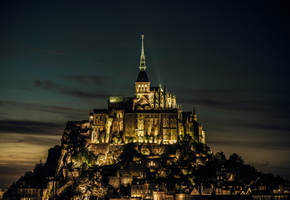 island, mont saint-michel, France, франция, нормандия, normandy, castle