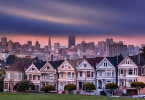 california, сша, город, Usa, сан-франциско, san francisco, alamo square