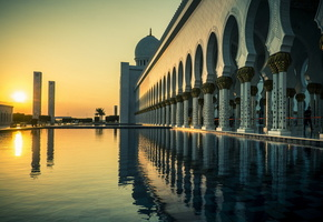 Grand mosque, город, abu dhabi