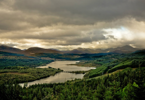 шотландия, великобритания, loch garry, Great britain, scotland, lake